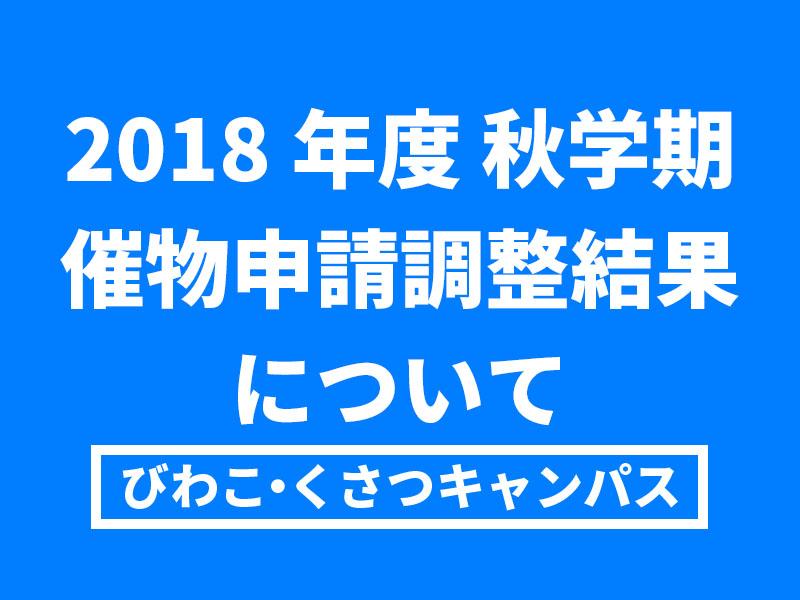 【BKC】2018年度秋学期催物申請調整結果について